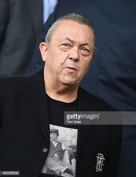 JointChairman of West Ham United David Sullivan looks on during the preseason friendly match between Ipswich Town and West Ham United at Portman Road...