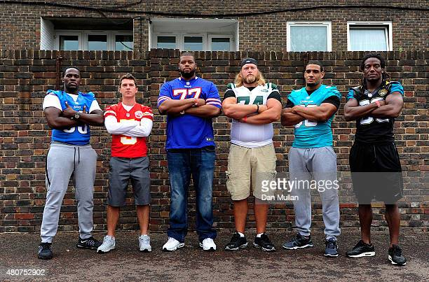 Joique Bell of Detroit Lions Cairo Santos of Kansas City Chiefs Cordy Glenn of Buffalo Bills Nick Mangold of New York Jets Olivier Vernon of Miami...