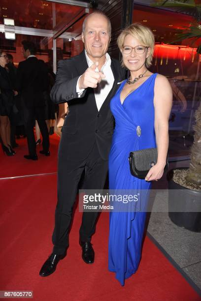Joja Wendt and Andrea Ballschuh attend the 12th Hope Charity Gala at Kulturpalast on October 28 2017 in Dresden Germany