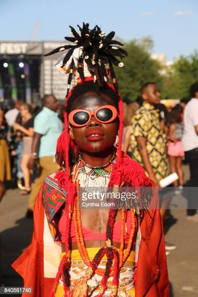 Jojo Abot attends Afropunk Fest at Commodore Barry Park on August 26 2017 in the Brooklyn borough of New York City