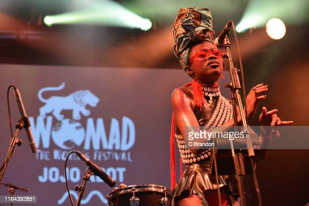 Jojo Abot performs on stage during day two of the Womad Festival 2019 at Charlton Park on July 26 2019 in Malmesbury England