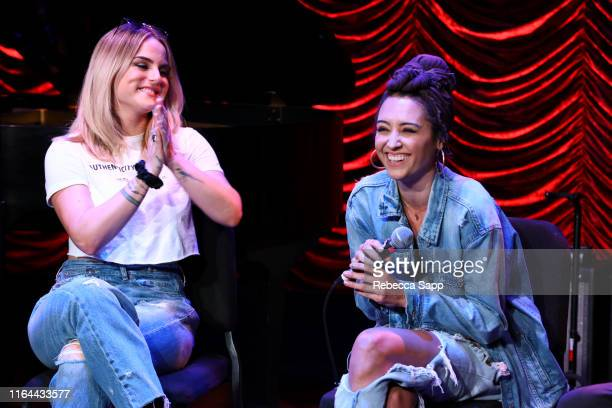 JoJo and Nikki Flores speak at GRAMMY Camp Guest Artist Masterclass at USC Thornton School of Music on July 26 2019 in Los Angeles California