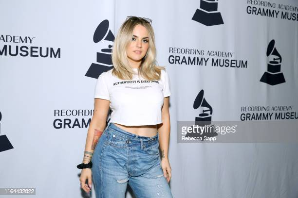 JoJo attends GRAMMY Camp Guest Artist Masterclass at USC Thornton School of Music on July 26 2019 in Los Angeles California