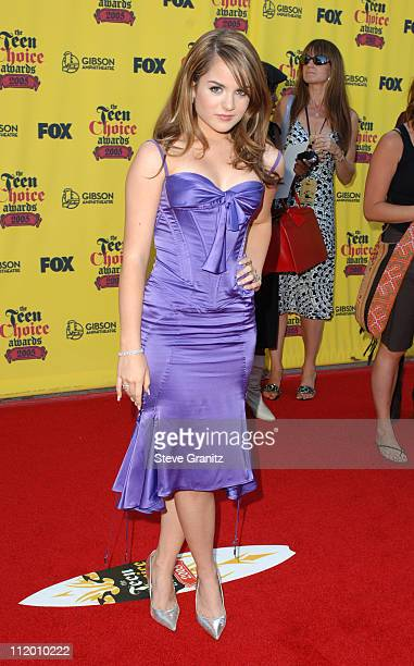 JoJo during 2005 Teen Choice Awards Arrivals at Gibson Amphitheatre in Universal City California United States