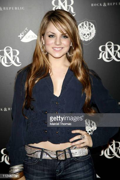 JoJo during Olympus Fashion Week Spring 2007 Rock Republic Red Carpet and Front Row at Cipriani in New York City New York United States
