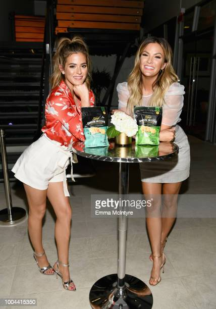 JoJo Fletcher and Becca Tilley celebrate the launch of Stacy's Cheese Petites at its Girls' Night In event on July 23 2018 in Beverly Hills California