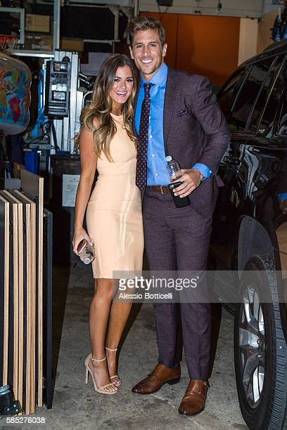 Jojo Fletcher and Jordan Rodgers are seen arriving at 'Live With Kelly' on August 2 2016 in New York New York