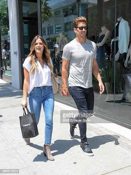 JoJo Fletcher and Jordan Rodgers are seen on August 04 2016 in Los Angeles California