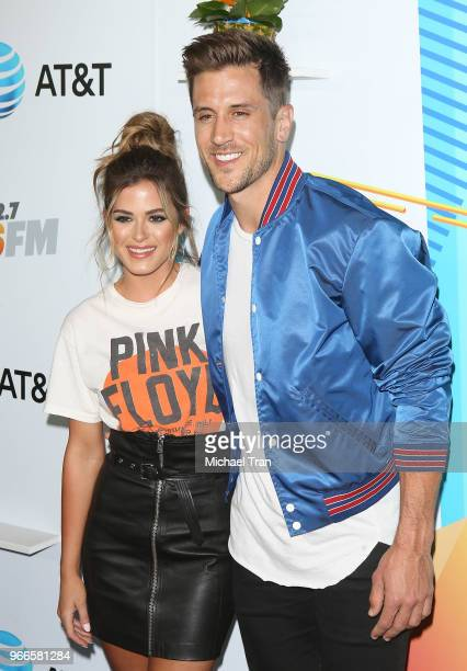 JoJo Fletcher and Jordan Rodgers attend the iHeartRadio's KIIS FM Wango Tango By ATT held at Banc of California Stadium on June 2 2018 in Los Angeles...