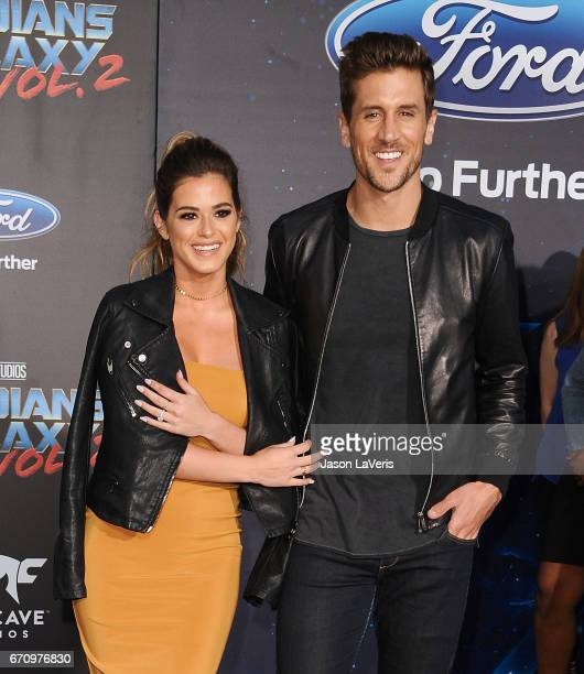 JoJo Fletcher and Jordan Rodgers attend the premiere of Guardians of the Galaxy Vol 2 at Dolby Theatre on April 19 2017 in Hollywood California