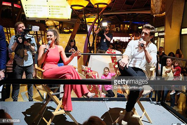Jojo Fletcher and Jordan Rodgers of The Bachelorette meet with fans at Mohegan Sun during a Special Edition Reality Check event as part of the...