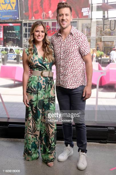 Jojo Fletcher and Jordan Rodgers visit Extra at The Levi's Store Times Square on July 22 2019 in New York City