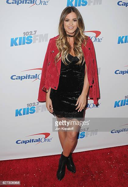 JoJo Fletcher arrives at 1027 KIIS FM's Jingle Ball 2016 at Staples Center on December 2 2016 in Los Angeles California