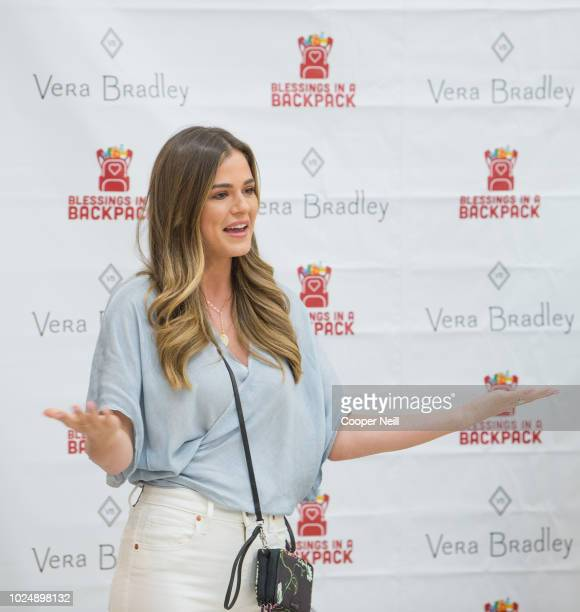 JoJo Fletcher attends as Vera Bradley partners with Blessings in a Backpack to continue BacktoSchool Philanthropy Tour at Grand Prairie Boys Girls...
