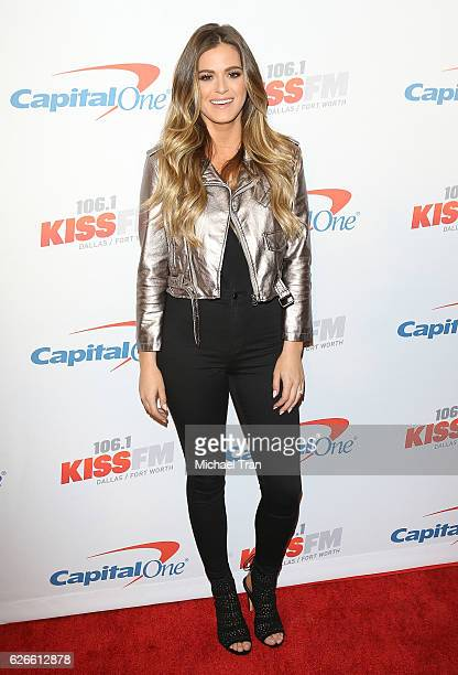 JoJo Fletcher attends the 1061 KISS FM's Jingle Ball 2016 held at American Airlines Center on November 29 2016 in Dallas Texas