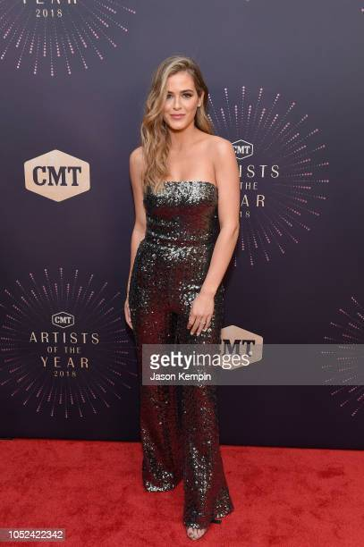 JoJo Fletcher attends the 2018 CMT Artists of The Year at Schermerhorn Symphony Center on October 17 2018 in Nashville Tennessee