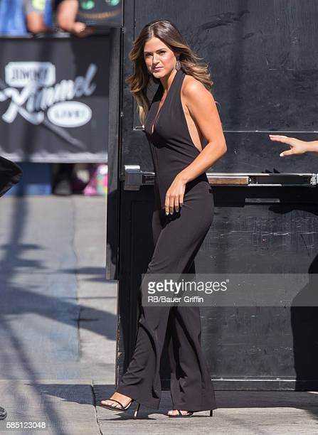 JoJo Fletcher is seen at 'Jimmy Kimmel Live' on August 01 2016 in Los Angeles California