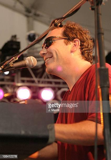 "Jojo Hermann of JoJo & His Mojo Mardi Gras Band during Bonnaroo 2004 - Day 1 - JoJo & His Mojo Mardi Gras Band at Centeroo Performance Fields - ""The..."