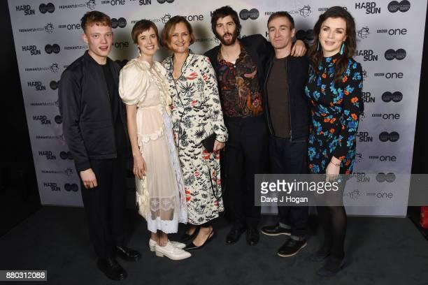 Jojo Macari Agyness Deyn Kate Harwood Jim Sturgess Derek Riddell and Aisling Bea attend the 'Hard Sun' Premiere at BFI Southbank on November 27 2017...