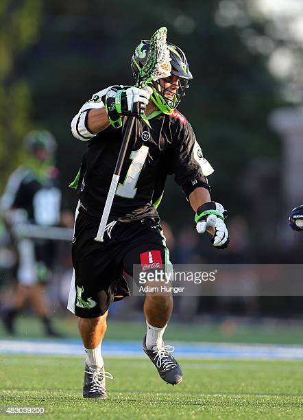 JoJo Marasco of the New York Lizards in action against the Boston Cannons at James M Shuart Stadium on August 1 2015 in Hempstead New York