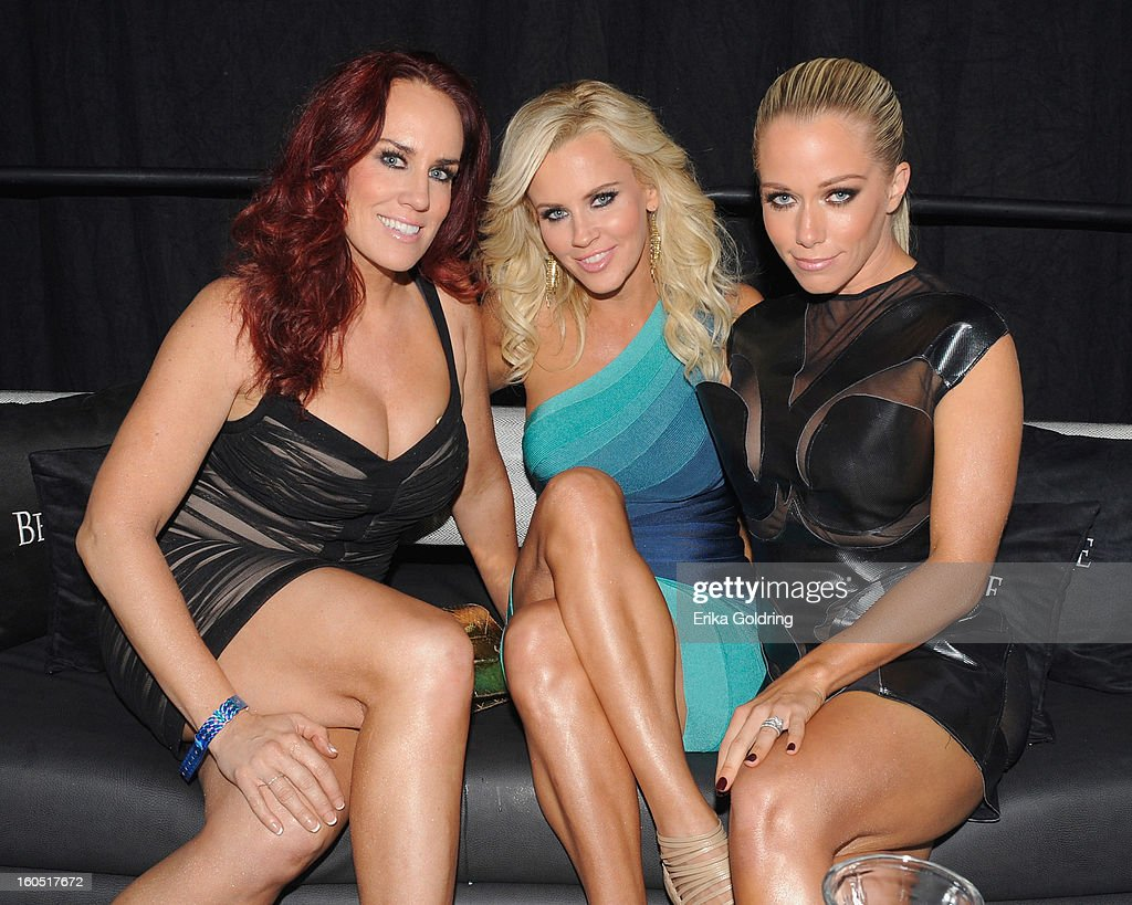 JoJo McCarthy, Jenny McCarthy and Kendra Wilkinson attend the Tenth Annual Leather & Laces Super Bowl Party on February 1, 2013 in New Orleans, Louisiana.