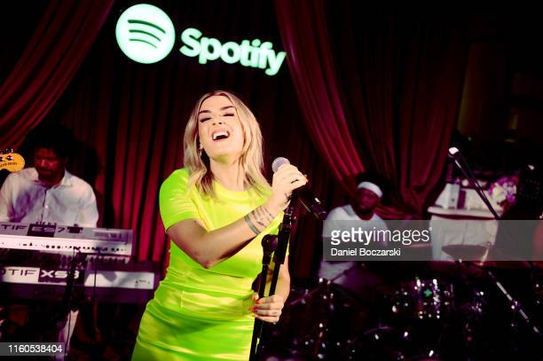 JoJo performs during the Spotify House Of Are Be Late Night Jam Session With Raphael Saadiq on July 06 2019 in New Orleans Louisiana