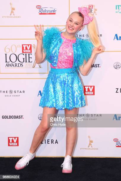 JoJo Siwa arrives at the 60th Annual Logie Awards at The Star Gold Coast on July 1 2018 in Gold Coast Australia