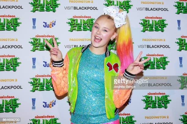 JoJo Siwa attends Nickelodeons SLIMEFEST Highlights from the slimefilled event will air on Nickelodeon on Friday 3rd November at 5pm in Blackpool...