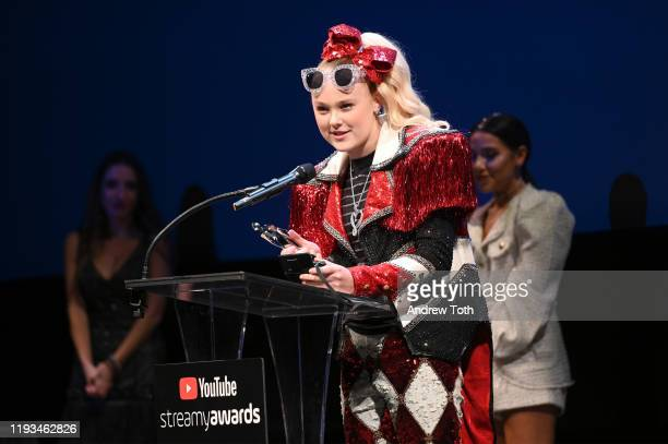 Jojo Siwa attends the 2019 Streamys Premiere Awards at The Broad Stage on December 11 2019 in Santa Monica California