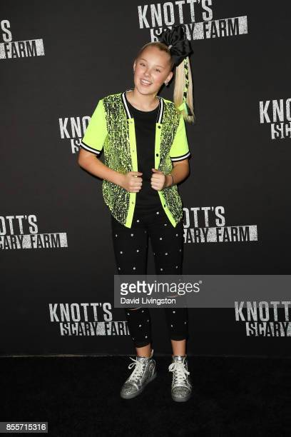 JoJo Siwa attends the Knott's Scary Farm and Instagram's Celebrity Night at Knott's Berry Farm on September 29 2017 in Buena Park California