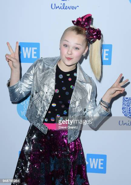 JoJo Siwa attends WE Day California at The Forum on April 19 2018 in Inglewood California