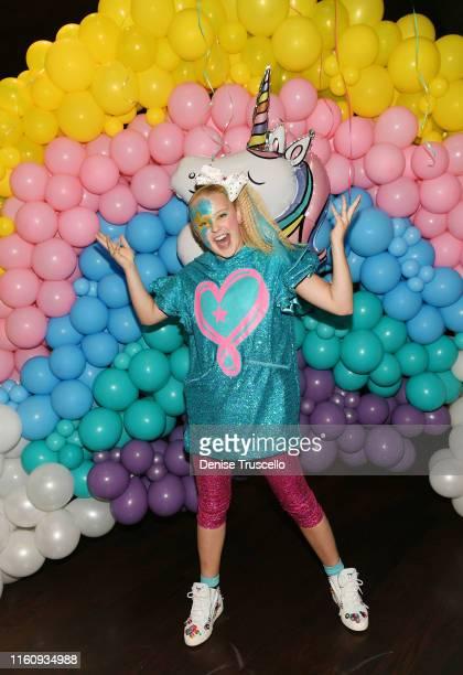 "JoJo Siwa celebrates ""JoJo Siwa Day"" at Sugar Factory American Brasserie on August 10, 2019 in Las Vegas, Nevada."