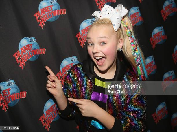 JoJo Siwa hosts a screening of her new Nickelodeon movie 'Blurt' as she visits Planet Hollywood Times Square on February 19 2018 in New York City