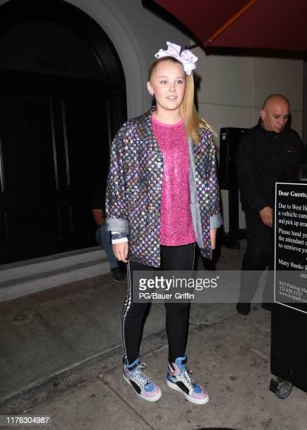 Jojo Siwa is seen on October 16, 2019 in Los Angeles, California.