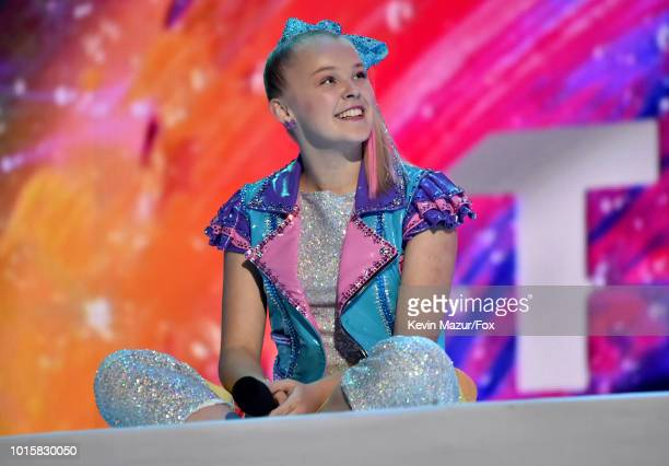 JoJo Siwa onstage during FOX's Teen Choice Awards at The Forum on August 12 2018 in Inglewood California