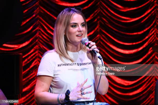 JoJo speaks at GRAMMY Camp Guest Artist Masterclass at USC Thornton School of Music on July 26 2019 in Los Angeles California