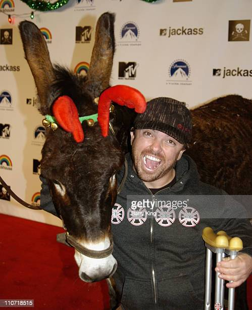 JoJo the donkey and 'Wee Man' Acuna during Jackass Jingle Balls Ball Party for 'Jackass The Box Set' DVD Release at Circus Nightclub in Hollywood...