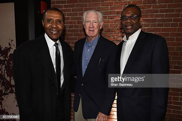 JoJo White John Havlicek and Glenn McDonald of the Boston Celtics honored the 1966 and 1986 Championship teams at a special dinner event on April 12...