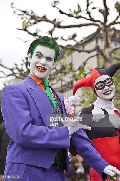 joker and his girlfriend - cosplay stock pictures, royalty-free photos & images