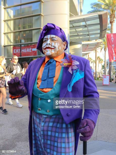 Joker Cosplayer is seen on July 22 2017 in San Diego California