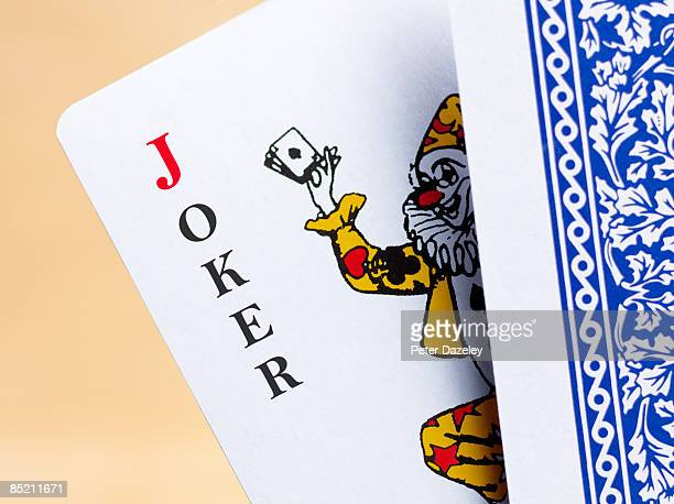 joker playing card. - joker card stock photos and pictures