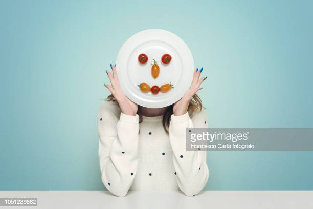 joking in the kitchen - anthropomorphic face stock pictures, royalty-free photos & images