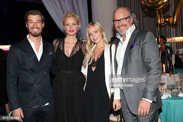 Joko Winterscheidt Franziska Knuppe Charly Sturm and Peter Olsson during the 5th anniversary of Westwing on October 12 2016 in Munich Germany
