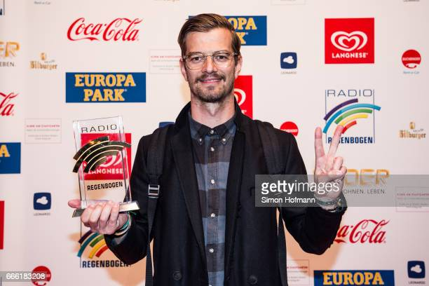 Joko Winterscheidt poses with his award prior to the Radio Regenbogen Award 2017 at Europapark on April 7 2017 in Rust Germany