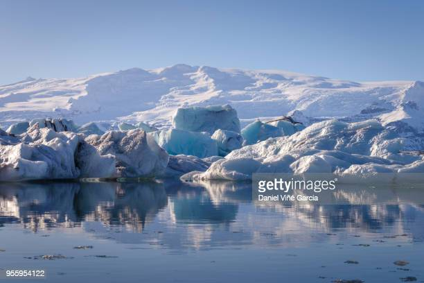 Jokulsarlon, a famous glacier lagoon.