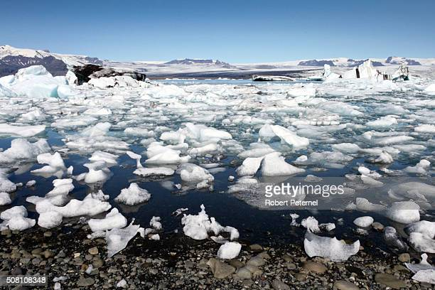 jokulsarlon glacial lagoon - breidamerkurjokull glacier stock photos and pictures