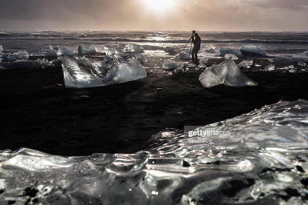 Jokulsarlon glacial lagoon : Stock Photo