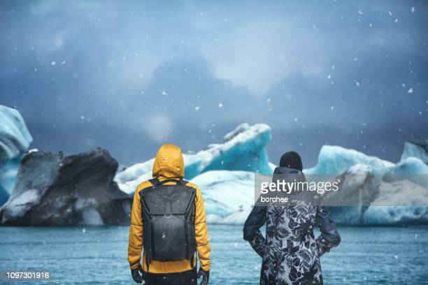 jokulsarlon glacial lake - glacier lagoon stock photos and pictures