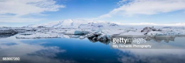 Jokulsarlon Glacier Lagoon panorama, Iceland