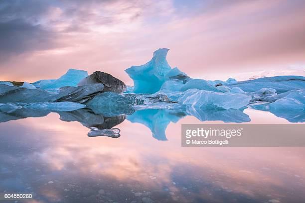 Jokulsarlon glacier lagoon, Southern Iceland.